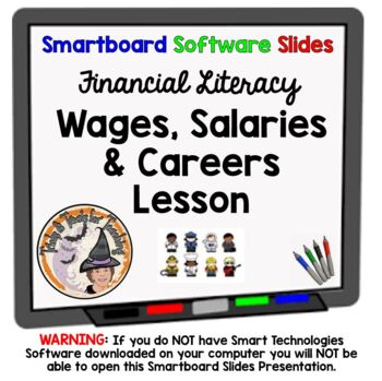 Wages Salaries and Careers Smartboard Lesson with Workshee