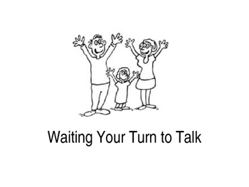 Wait to Talk (home) social story