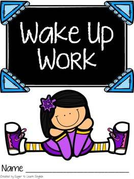 Wake Up Work: Standards-based Morning Activity Binder (Rea