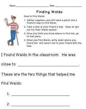 Waldo Map Activities