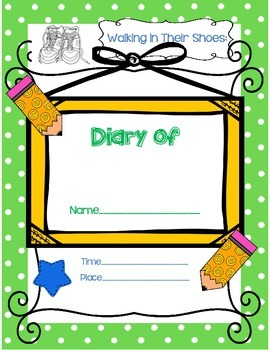 Walk In Their Shoes - Diary Writing for any book! NO PREP!