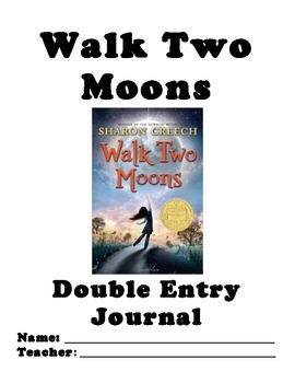Walk Two Moons Double-Entry Journal - SpringBoard 6th Grad