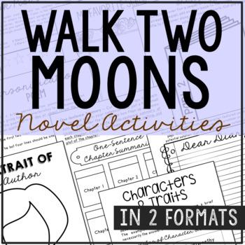 Walk Two Moons Interactive Notebook Novel Unit Study Activ