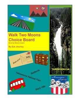 Walk Two Moons by Sharon Creech Choice Board