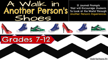 Walk in Another's Shoes: 15 Task Cards to Promote Toleranc