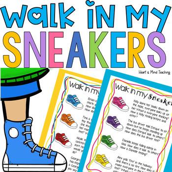 Walk in my sneakers empathy activity; Social emotional lea