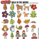 """Woodland Clip Art: """"Walk in the Woods"""""""
