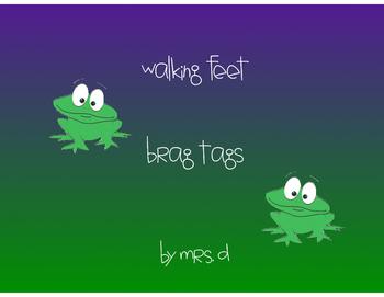 Walking Feet Brag Tags