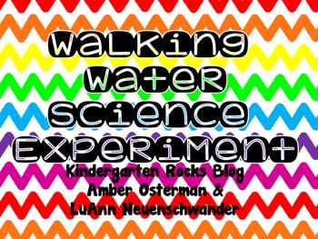 Walking Water Worksheet