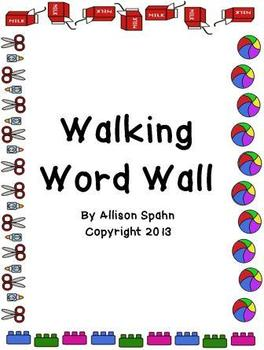 Walking Word Wall booklet