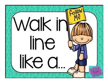 Walking in Line Prompts