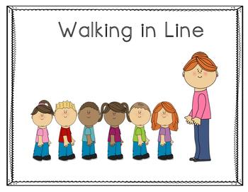 Walking in Line Social Story
