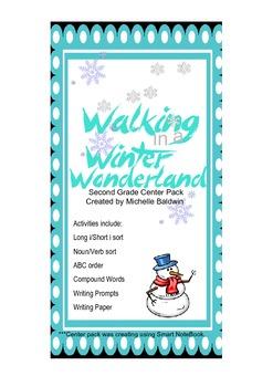 Walking in a Winter Wonderland Literacy Center Pack