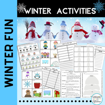 Winter Literacy Stations:Walking in a Winter Wonderland Al