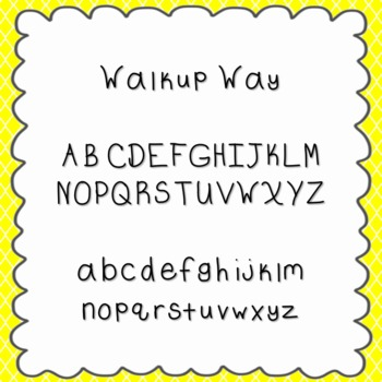 Walkup Way Font {personal and commercial use; no license needed}