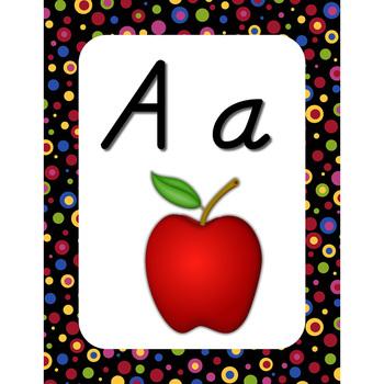 Wall Alphabet Cards (D'nealian Font)
