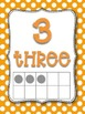 Polka-Dot Theme Wall Numbers 1-20 in primary colors