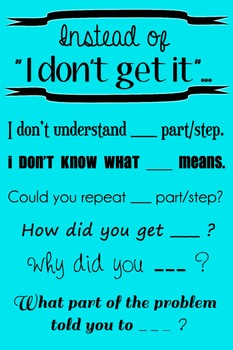 """Wall Poster - Instead of """"I Don't Get It""""... (turquoise wi"""