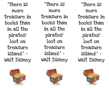 Walt Disney Bookmarks for Open House