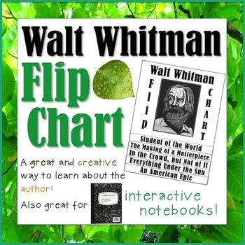 Walt Whitman Flip Chart! *GREAT for INTERACTIVE NOTEBOOKS!*