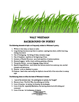 Walt Whitman Poetry  - A Close Reading