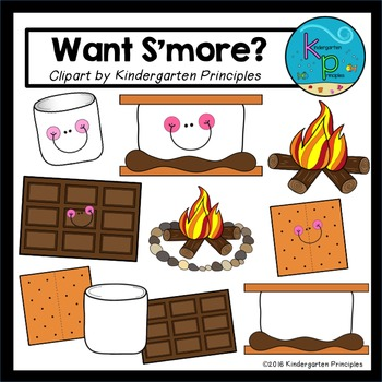 """""""Want S'more?"""" (Camping Clipart Set)"""