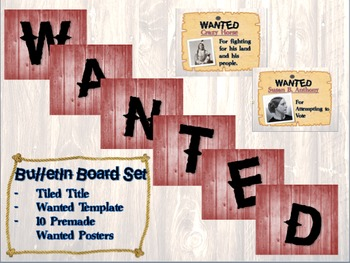 Wanted Historical Bulletin Board