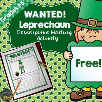 St. Patrick's Day Freebie (A Descriptive Writing Activity)