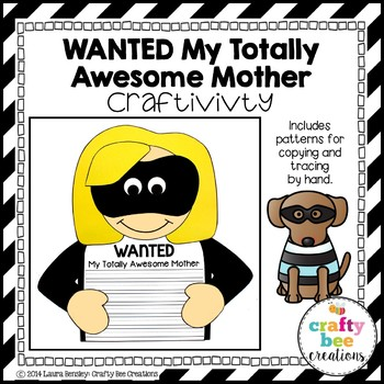 "Mother's Day ""Wanted My Totally Awesome Mother"" Craftivity"