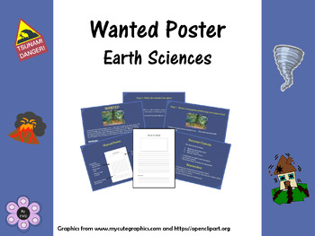 Wanted Poster - Earth Sciences Text