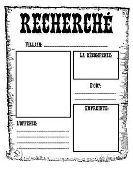 Wanted Poster (In French)