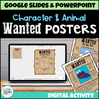 Wanted Poster for Character or Animal (PowerPoint Templates)