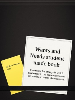 Wants and Needs Student book