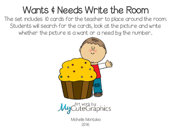 Wants and Needs Write the Room