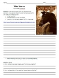 War Horse Reading Guide and Chapter Comprehension Questions