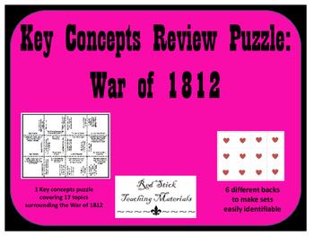 War of 1812 Key Concepts Puzzle