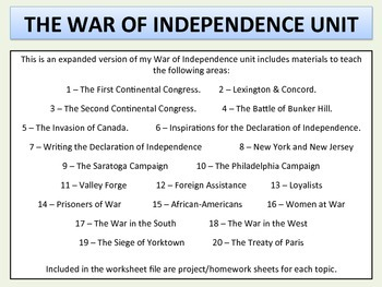 War of Independence - Expanded Unit