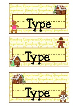 Warm Gingerbread Name Slates