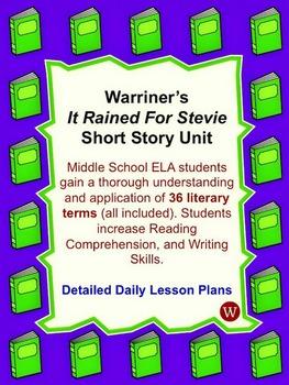 "Short Story ""It Rained for Stevie"" Unit"