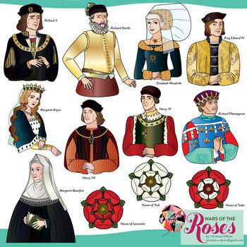 Wars of the Roses Clip Art Set
