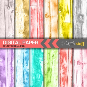 Washed Out Wood Texture Digital Paper