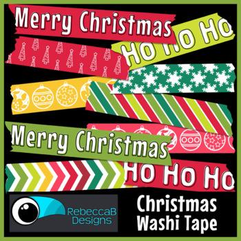 Washi Tape Clip Art Christmas