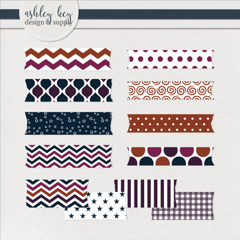 Washi Tape Clipart Package- Sunset Collection