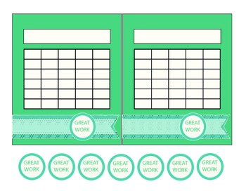 """""""Washi Tape"""" Turquoise and Blue Incentive Charts"""