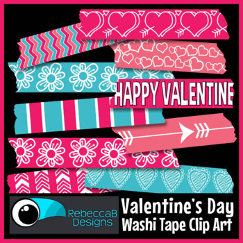 Washi Tape Clip Art Valentine's Day
