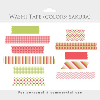 Washi tape clipart - clip art, masking tape, Japanese tape