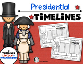 {Washington and Lincoln Timelines} for Kindergarten and Fi