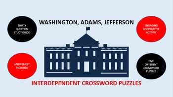 Washington, Adams, Jefferson: Interdependent Crossword Puz