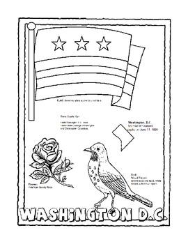 Washington D.C. Color Page