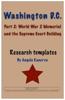 Washington D.C. Part 2 Research Poster WW2 and Supreme Cou